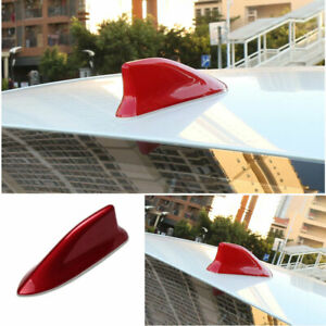 For Toyota Corolla 2014 2018 Abs Red Shark Fin Antenna Receiver Cover Trim 1pcs