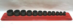 Snap On 12 Pc 3 8 Drive 6 Point Sae Flank Drive Shallow Impact Socket Set