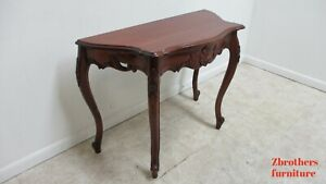 Vintage French Country Carved Console Sofa Table Server Handcraft