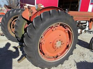 Massey Harris 65 Tractor Power Adjust Rims 13 6 X 38 Armstrong Heavy Duty Tires