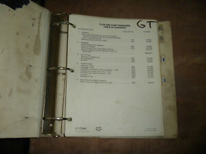 J I Case Tl100 Trencher Shop Service Repair Manual