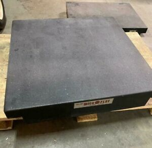 Collins Microflat Precision Granite Surface Inspection Plate 24 X 24 X 4