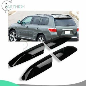 Blk Roof Rack For Toyota Highlander 2010 2013 Cover Rail End Shell Replace 4x