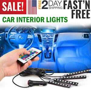 Led Car Interior Lights Accessories Floor Decorative Lamp Light Neon Glowing Kit