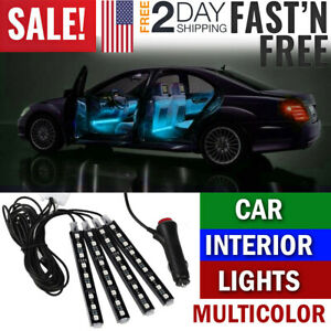 Car Interior Led Lights Kit Suv Truck Atmosphere Neon Strip Lights Wireless Rc
