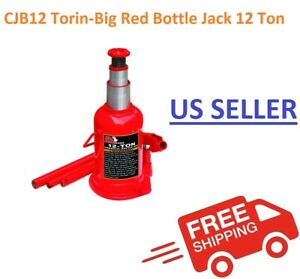 Torin Big Red Bottle Jack Hydraulic 12 Ton Capacity T91204
