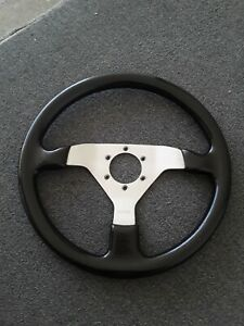 Momo Wooden Steering Wheel Black Jdm Nardi Sparco
