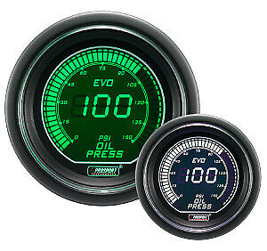 Prosport Evo Series Oil Pressure Gauge Green White