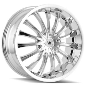 4 Mazzi 351 Hype 20x8 5 5x112 5x120 40mm Chrome Wheels Rims 20 Inch