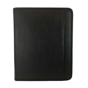 Samsill Professional Zipper Padfolio Portfolio Black Large 8 5 X 11 Writing Pad