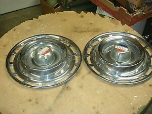 2 Vintage Rare 15 1961 63 Chrysler 300g 300h Hub Caps Wheel Covers