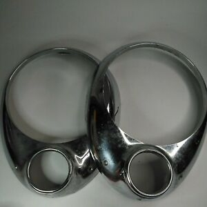 1950 Studebaker Pair Of 2 Headlight Bezels 1951 Champion 290246