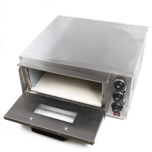 2000w Electric Stone Pizza Oven Stainless Steel Kitchen Equipment Commercial Us