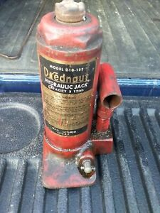 Vintage 3 Ton Bottle Jack Drednaut Works Made In Usa