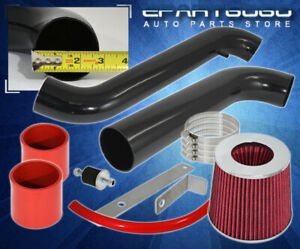 2 75 Red Cold Air Intake Induction Kit Filter For 1997 2001 Honda Prelude L4