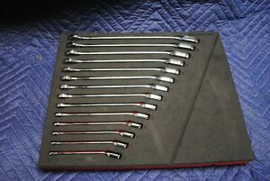 Snap On 14 Piece Metric Flank Drive Plus Combo Wrench Set 6mm 19mm In Foam