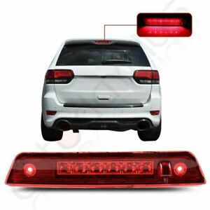 Red Lens For 2007 Jeep Grand Cherokee Full Led 3rd Brake Light Rear Tail Lamp