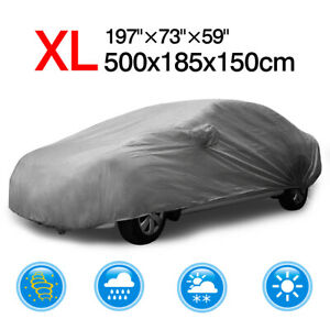 Xl Full Car Cover Waterproof Rain Resistant Protection For Ford Mondeo Mustang