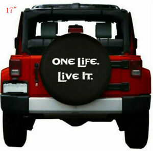 17 Spare Tire Cover Wheel Protectors For Jeep Wrangler Compass Dodge 32 33