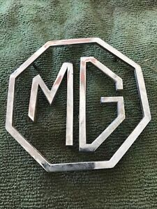 Mg Mgb Metal Trunk Emblem Set Adh 2475 Adh 2476 Adh 5261