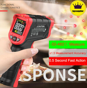 Us Industrial Digital Laser Temperature Gun Infrared Thermometer Non contact Lcd