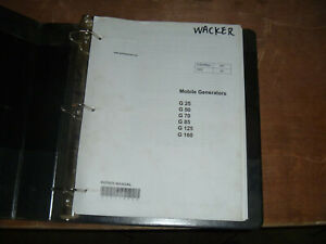Wacker Neuson G125 G160 Mobile Generators Shop Service Repair Manual