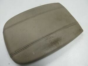 98 02 Ford Expedition Navigator Center Console Wide Armrest Tan Leather Oem