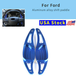 Bule Steering Wheel Shift Paddle Shifter Extension For Ford Mondeo Taurus Edge