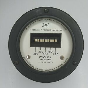 J b t 33 f Frequency Meter 100 150 Volts Panel Mount Vintage