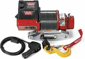 Warn 71550 9 0rc Series Rock Crawler Electric 12v Winch W Synthetic Cable Rope
