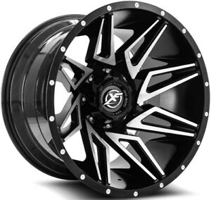 20x10 Black Machined Wheel Xf Offroad Xf 218 5x5 5 5x150 24