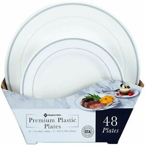 Member s Mark Premium Plastic Heavyweight Plates Combo Pack 48 Ct