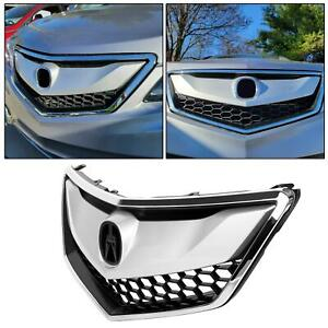 Sliver Black Front Grille Assembly Chrome painted For 2016 2017 2018 Acura Rdx