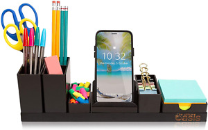 Desk Organizer With Adjustable Pen Holder Pencil Cup Phone Stand Sticky Note