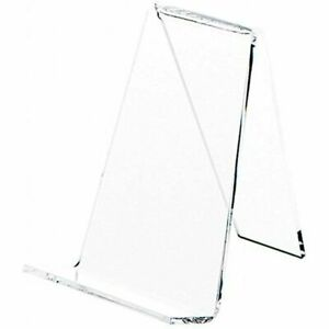 Plymor Clear Acrylic Book Easel With 1 125 Flat Ledge 3 625 W X 4 25 D H