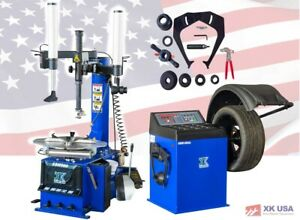 1 5 Hp Automatic Tire Changer Wheel Balancer Machine Combo 988 680a