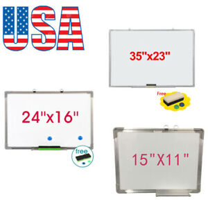 Single Sided Magnetic Dry erase Whiteboard With Marker Eraser 2pcs Magnets Usa