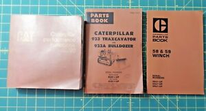 Caterpillar Parts Books For Winch 933 Traxcavator And Handbook Edition 20
