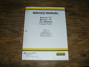 New Holland Boomer 33 37 Tractor 4b Engine Transmission Service Repair Manual