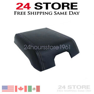 Center Console Armrest Lid Leather Synthetic Cover For Ford F150 15 19 Black
