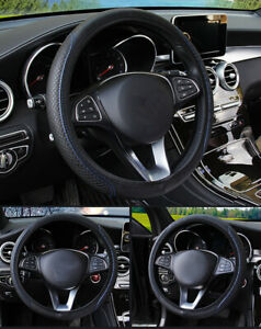 Universal Blackanti Slip Car Steering Wheel Cover For Honda Accord Civic Jeep Us