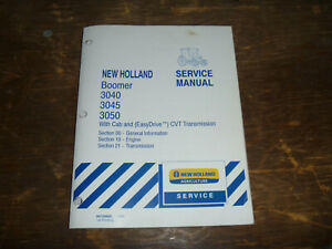 New Holland Boomer 3040 Tractor Cvt Transmission Engine Service Repair Manual
