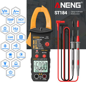 True Rms Digital Multimeter Clamp Meter Dc ac Voltage Detector Ohmmeter Tester