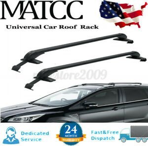 39 Universal Top Roof Rack Cross Bar Luggage Carrier Adjustable For Car Suv 4dr