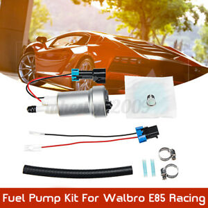 Fit Walbro E85 Racing Fuel Pump F90000274 450 Lph High Pressure With Install Kit
