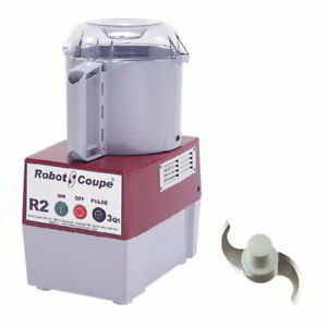 Robot Coupe R2b Cutter Mixer W 3 Qt Gray Bowl Smooth Edge S blade 1 Speed