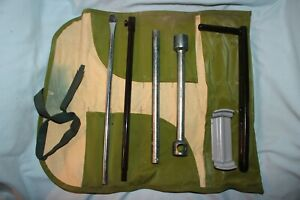 Vintage Toyota V15 Tire Tool Kit In Roll Up Pouch