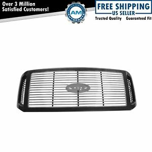 Billet Grille Black Chrome For Ford F250sd F350 F450 Excursion