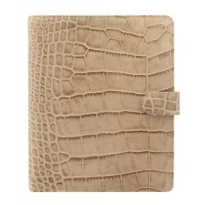Filofax A5 Classic Croc Taupe Leather Organizer Weekly Planner Calendar 2021 New