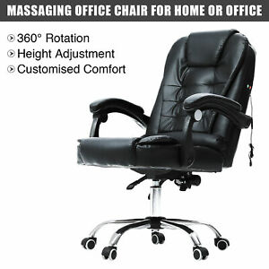 Swivel Massage Office Chair Executive Office Desk Reclining Computer Gaming Fhv